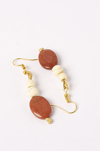Brown Feroza Earings