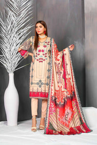 Arasteh Cotail 3Pc Embroidered Suit