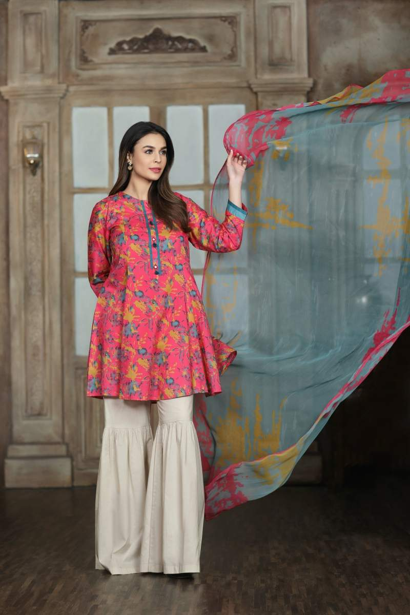 LIMELIGHT PRINTED LAWN 2 PC
