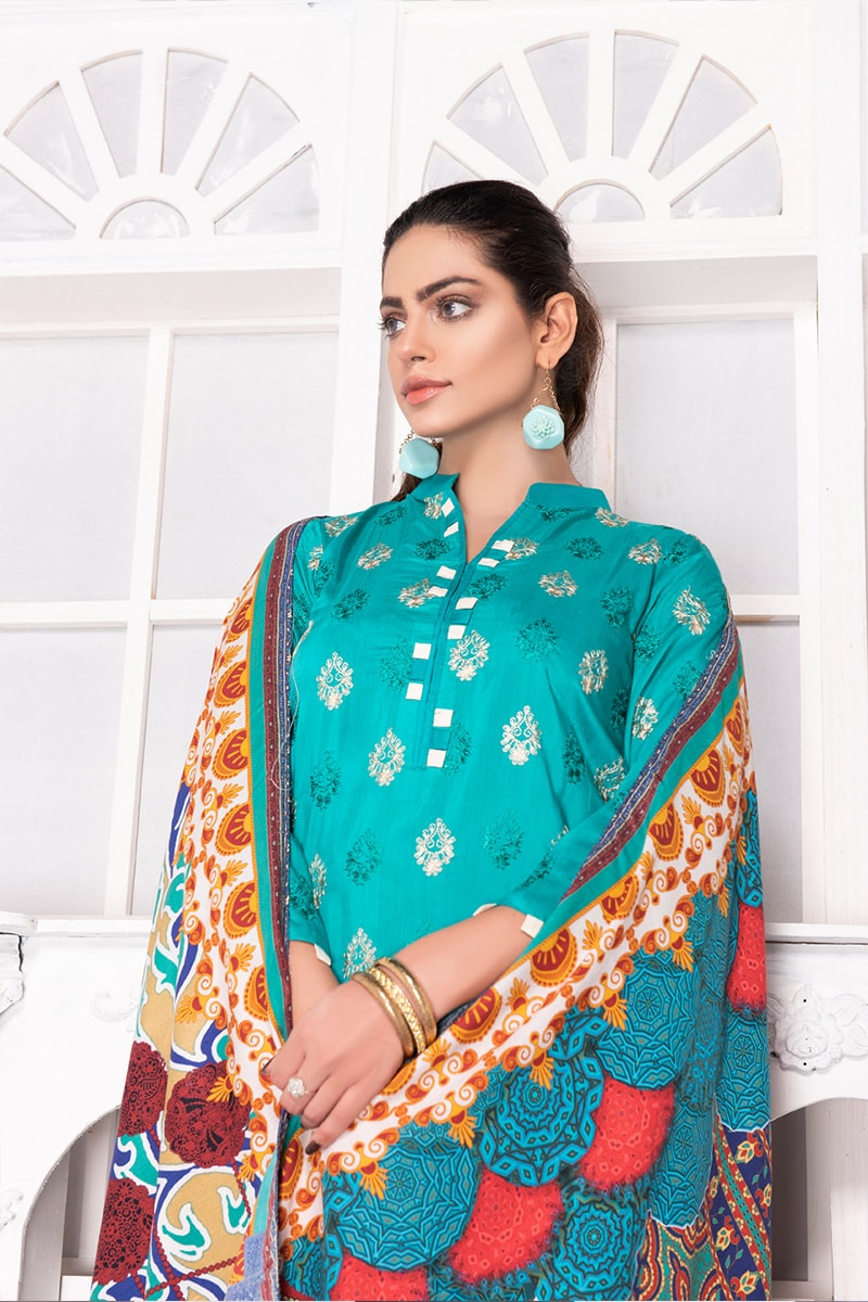 Arasteh Viscos Embroidered 3PC