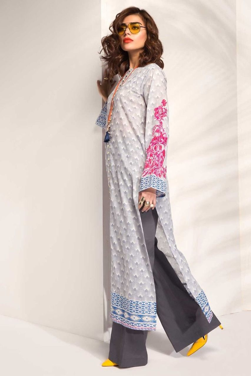KHAADI I18106 2PC EMBROIDERED SUIT