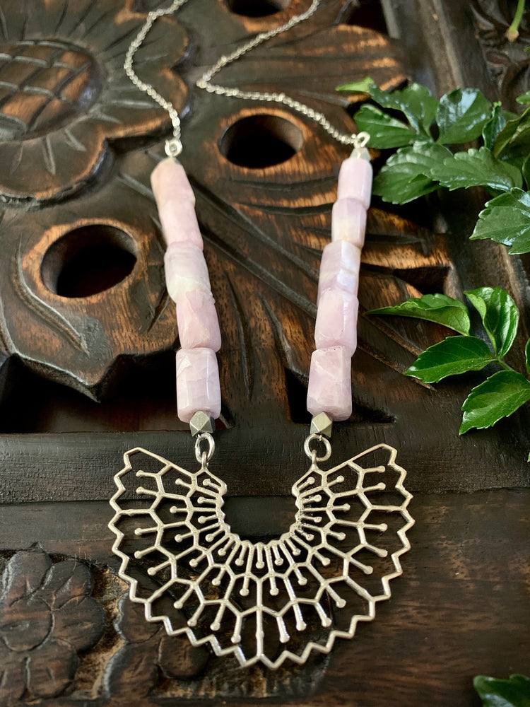 Boho Moon Flower Necklace