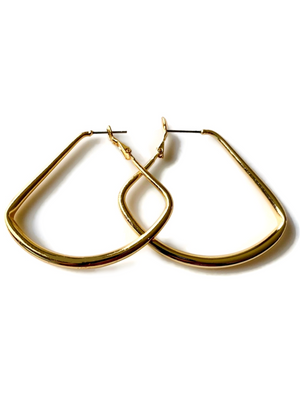"The Perfect Gold 2"" Triangle Hoops"