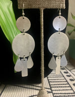 Silver Chandelier Statement Earrings
