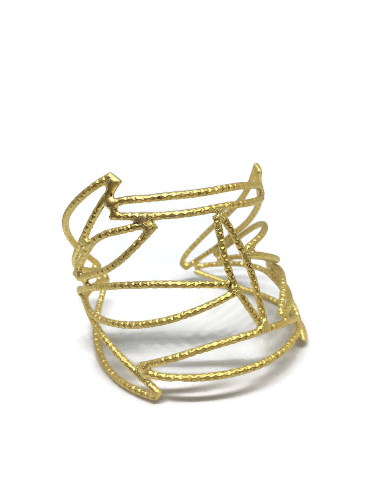 Gold Center Eye Cuff