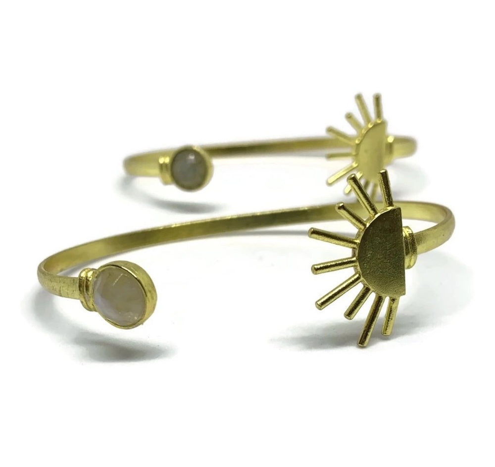 Sun & Stone Cuff - Choose your stone