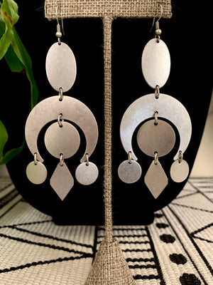 Silver Gypsy Statement Earrings