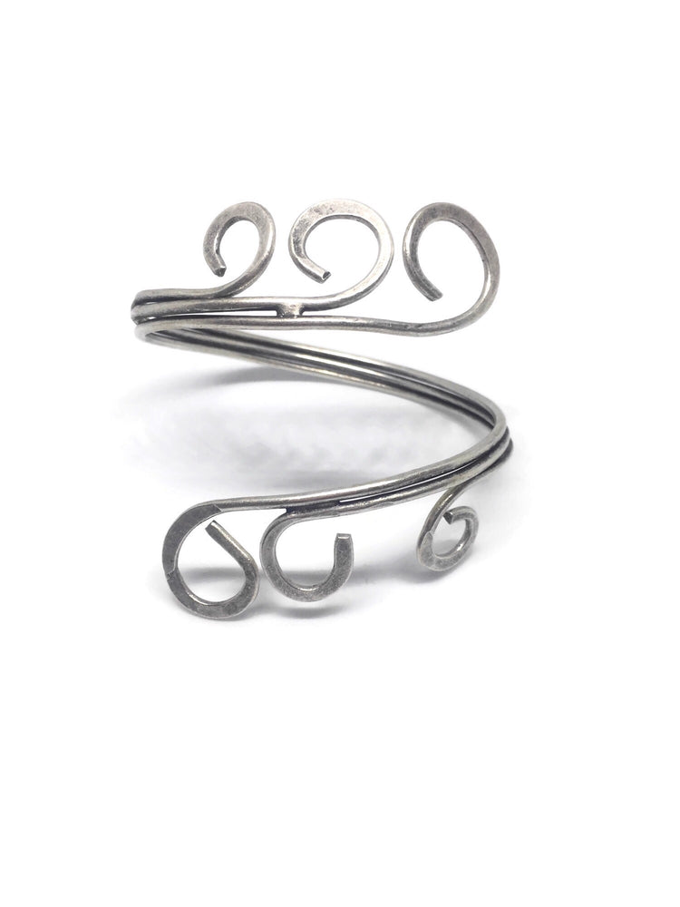 Swirl Cuff - Gold or Silver