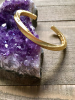Gold Twisted Metal Cuff Bracelet