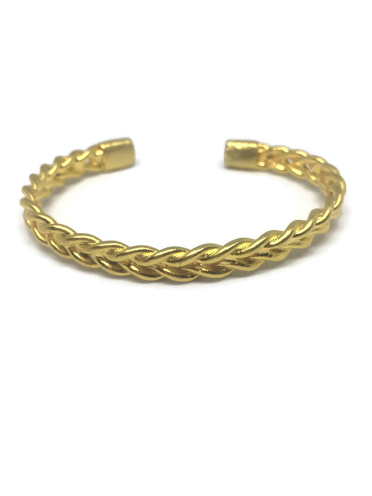 Braided Gold Bangle