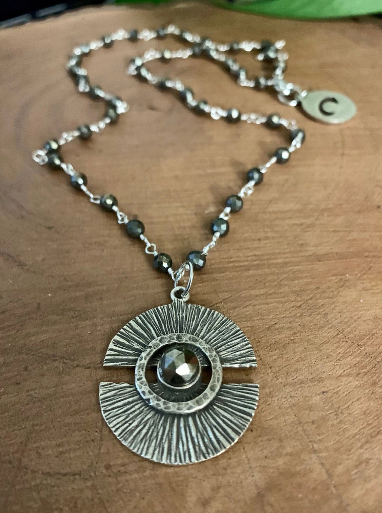 Eye of The Beholder Necklace - Pyrite
