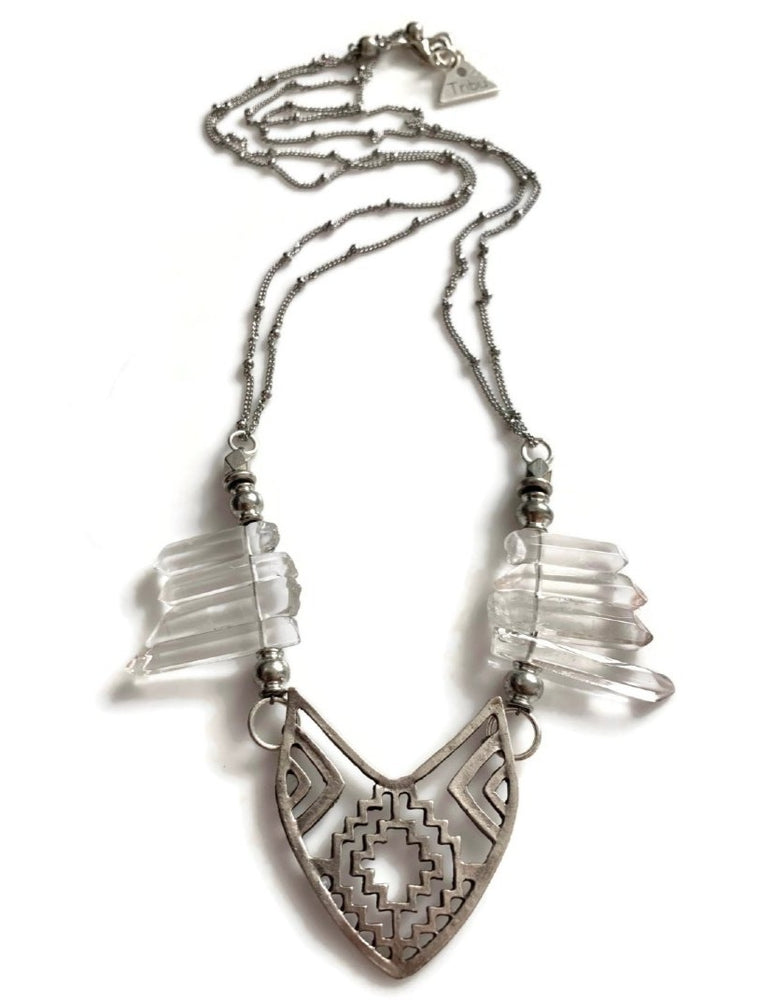 Crystal Quartz Tribe Necklace