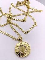 Load and play video in Gallery viewer, Celestial Circle 24k Gold Necklace