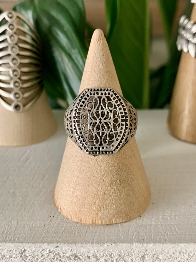 Bohemian Filigree Adjustable Ring