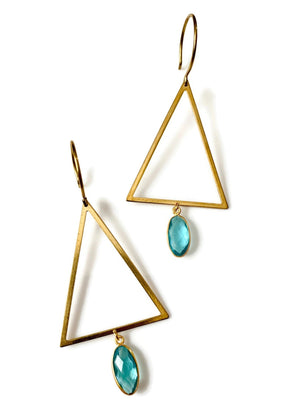 Topaz Triangle Earrings