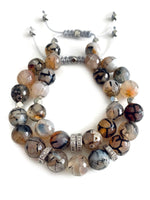 Signature Slider Bracelet - Silver/Earth Agate