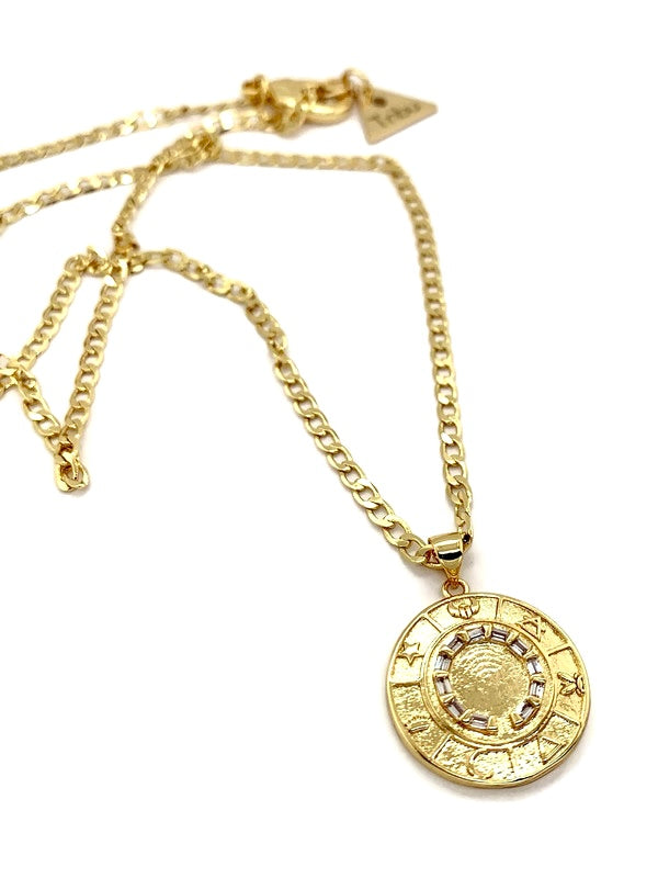 Celestial Circle 24k Gold Necklace