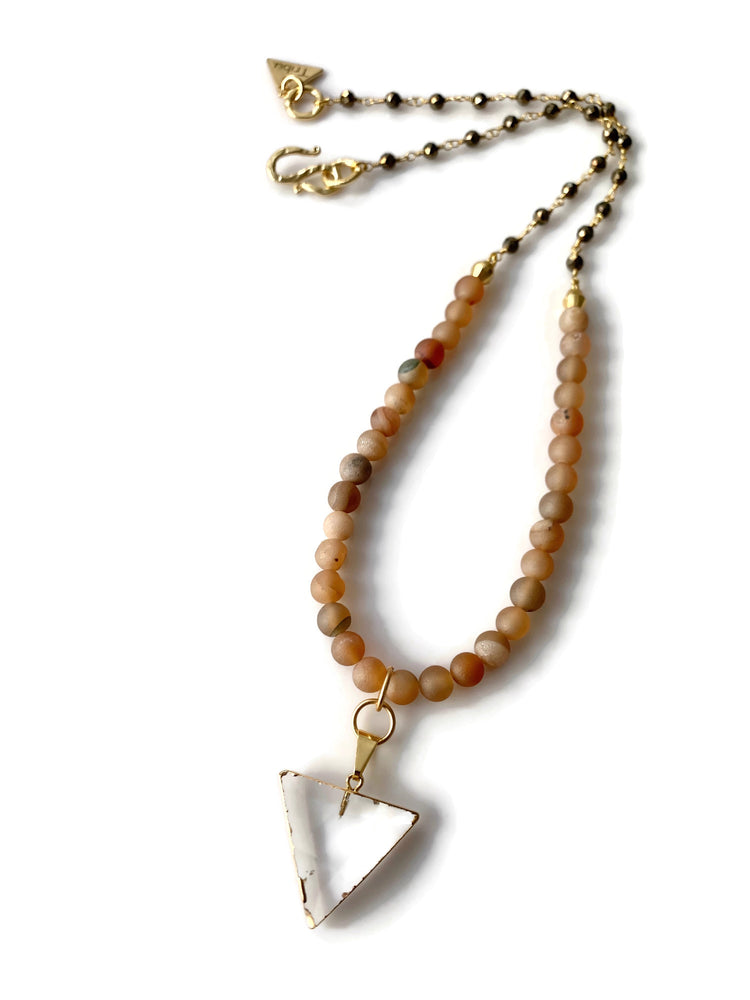 Crystal Arrow Beaded Necklace