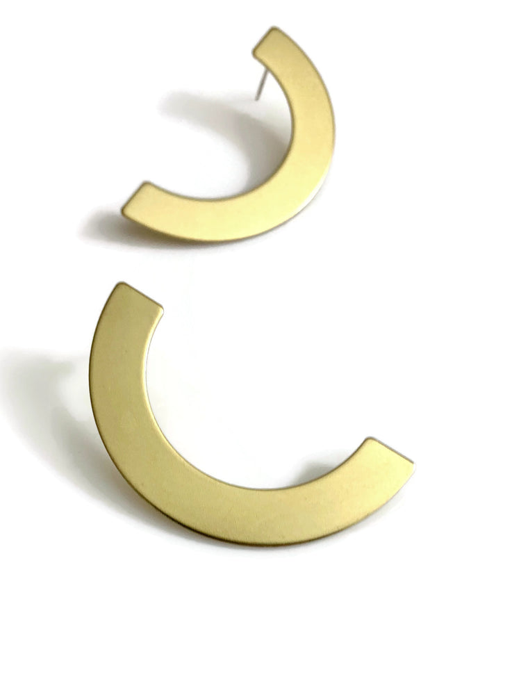 Crescent Post Earrings