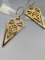 Tribal Sign Gold Earrings