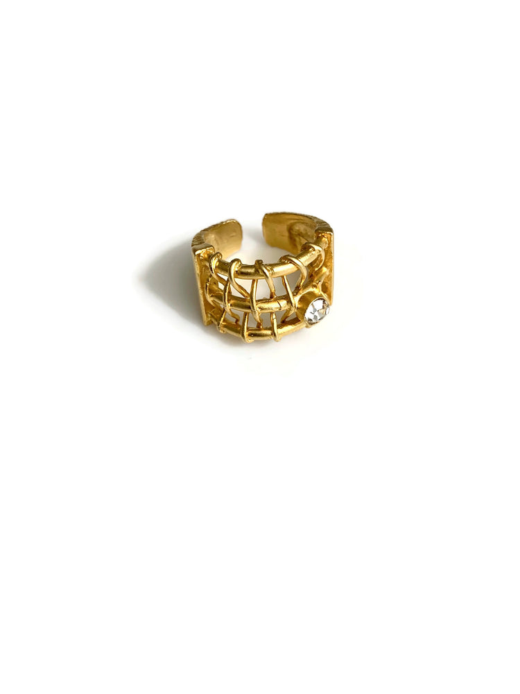 Gold Protector Adjustable Ring