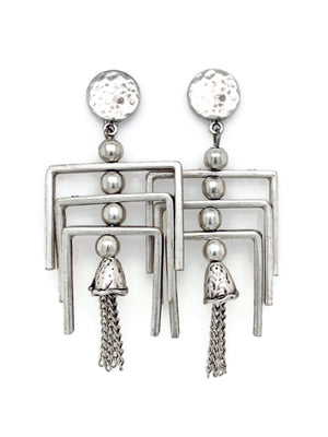 Silver Gypsy Chandelier Earrings