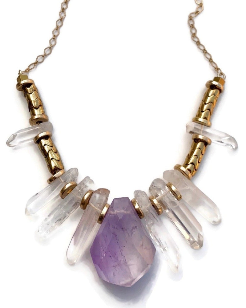 The Empress Amethyst Statement Necklace