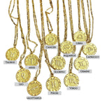 Load image into Gallery viewer, Zodiac Charm 14k Gold Necklace - Select your sign