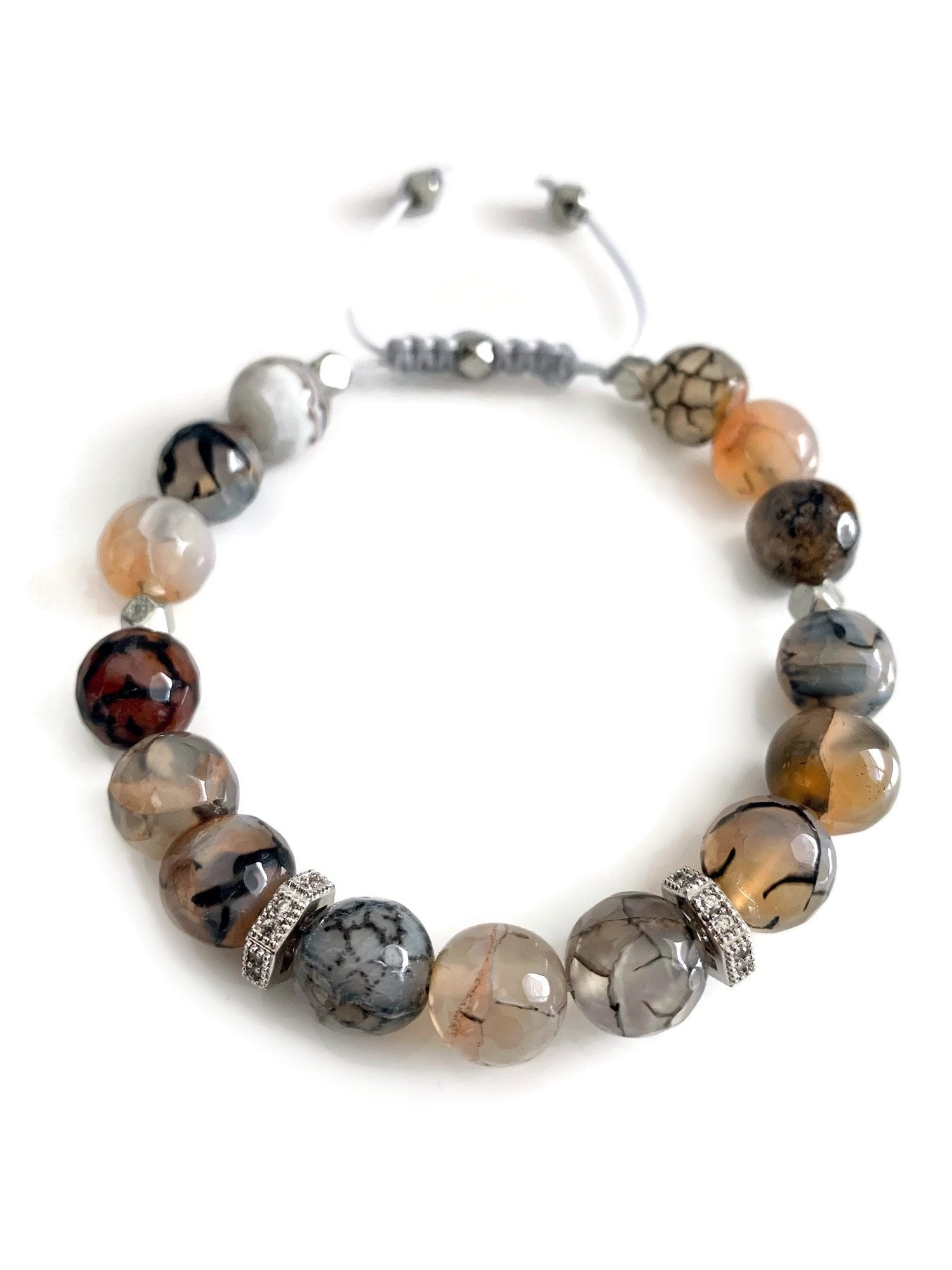 Earth Slider Bracelet - Silver/Choose your style