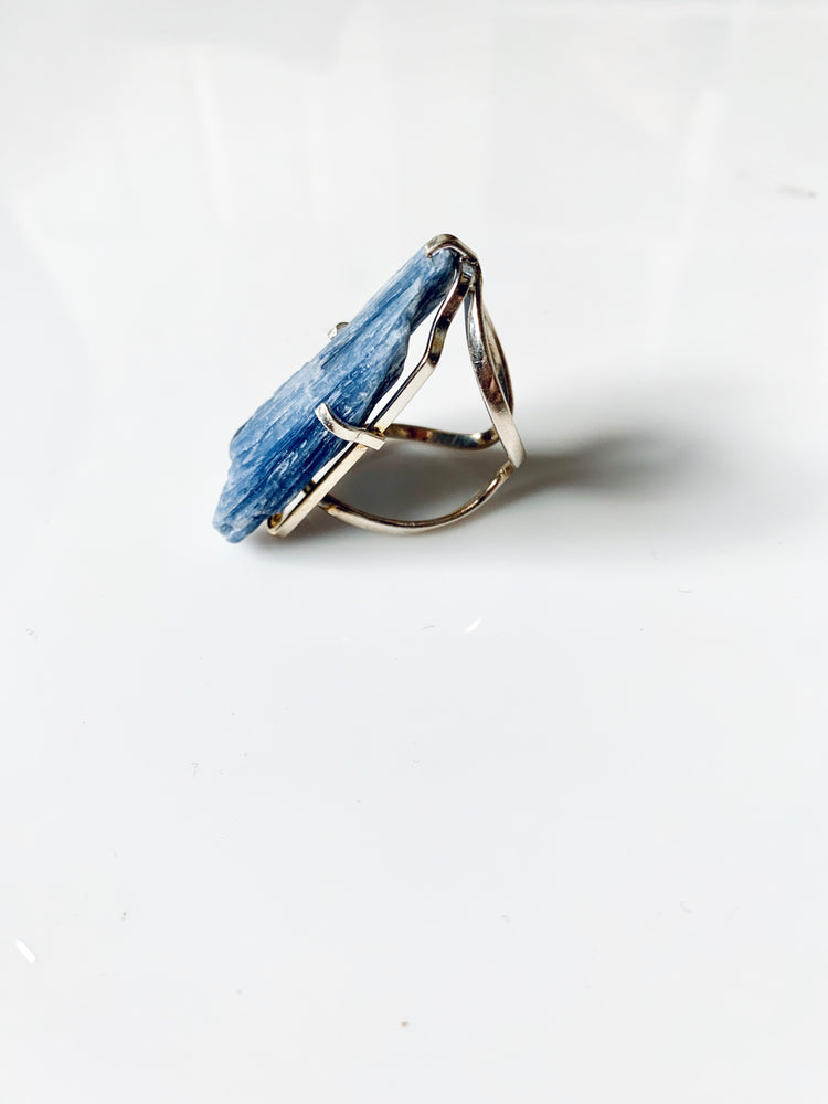 Kyanite Silver Adjustable Ring