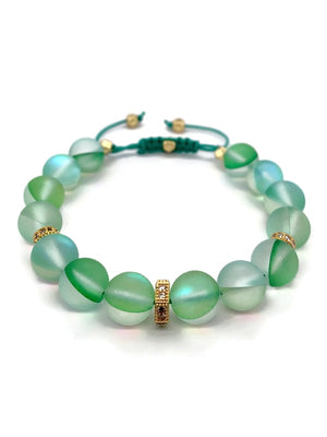 Signature Slider Bracelet - Gold/Green Mystic Quartz