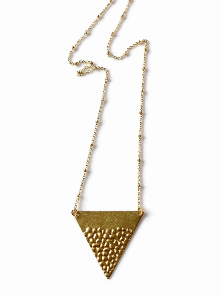 Brass Triangle Arrow Necklace