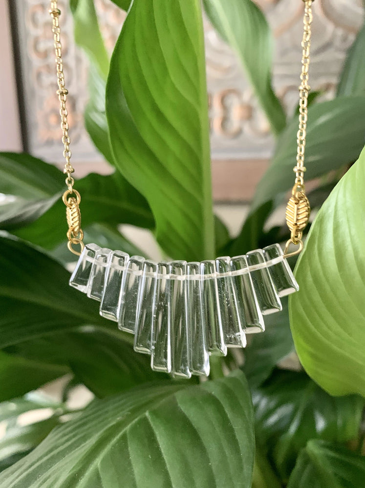 Crystal Fan Necklace
