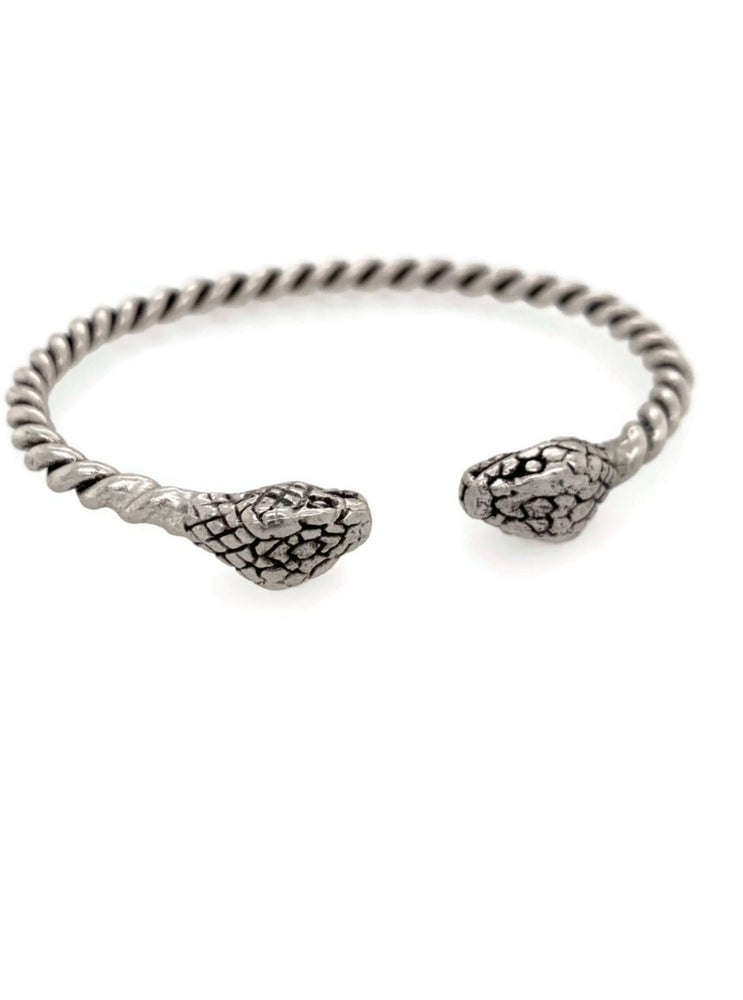 Silver Snake Adjustable Cuff
