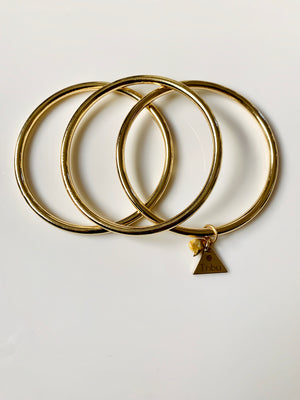 Bangle Bracelet Set - Gold
