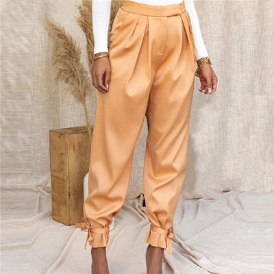 Pantalon Satin Orange.