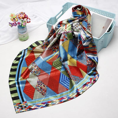 Foulard Satin Multicolore.
