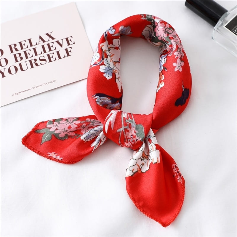 Bandana Satin Rouge