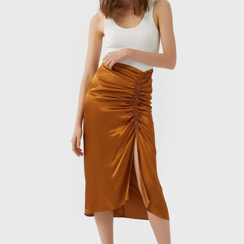 Jupe Satin Orange