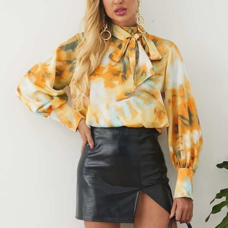 Blouse Satin Tie And Dye.