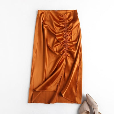 Jupe Satin Orange.