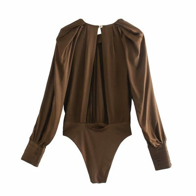 Body Satin Couleur Marron.