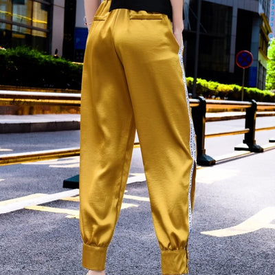 Pantalon Satin Coupe Jogging.