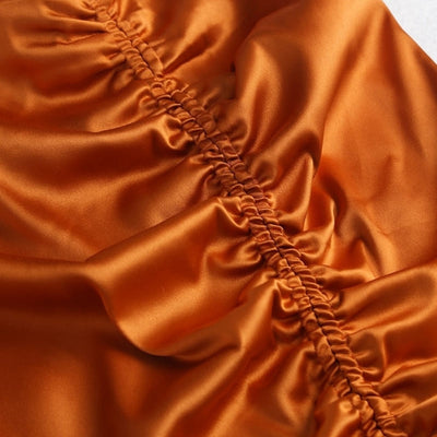 Jupe Satin Couleur Orange.