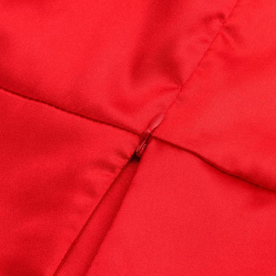 Robe Satin Rouge Longue Glamour Dos Nu.