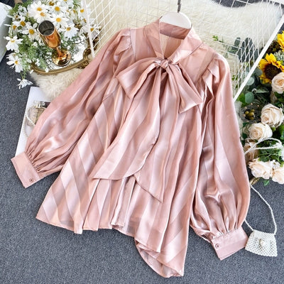 Blouse Satin Rose.