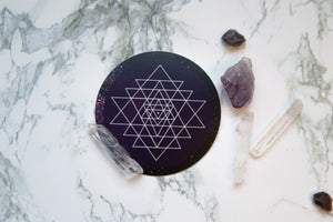 Sri Yantra Sticker - Vinyl Stickers, Sacred Geometry, cosmos, energy, crystal grid, boho