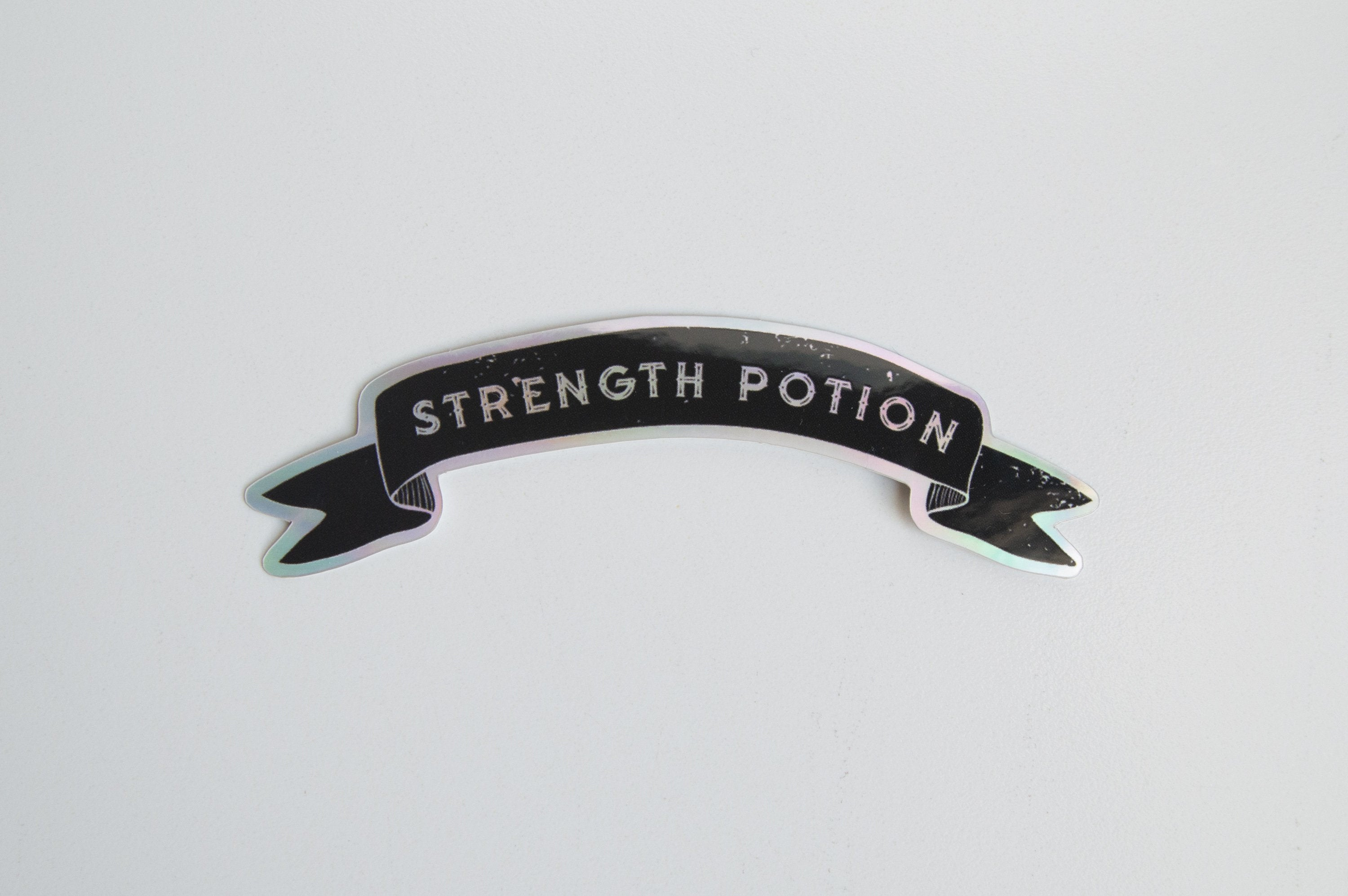 Strength Potion Holo Sticker - Holographic Stickers