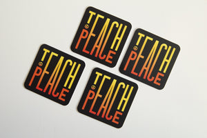 Teach Peace Stickers (x2) - Vinyl Sticker