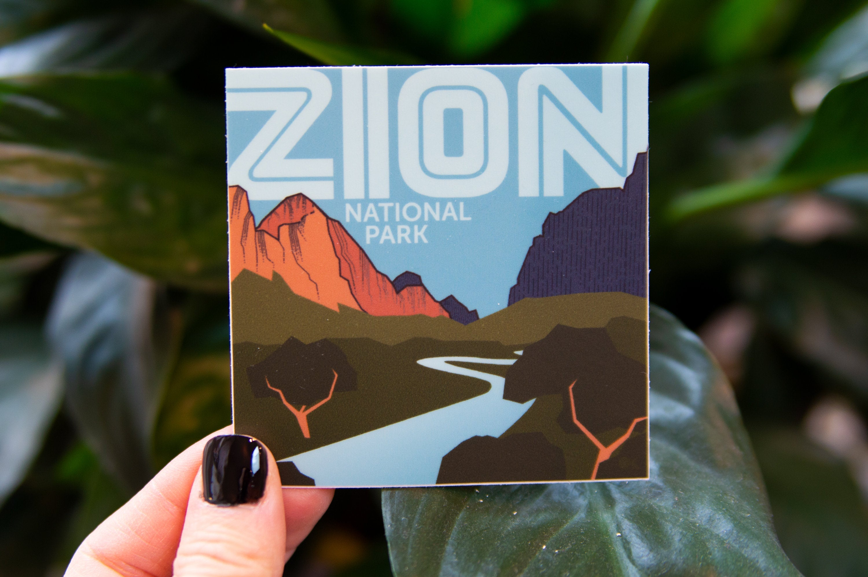 Zion National Park Sticker - Digitally hand drawn - Vinyl Stickers, travel, nature enthusiast, cross country, backpacking, outdoors